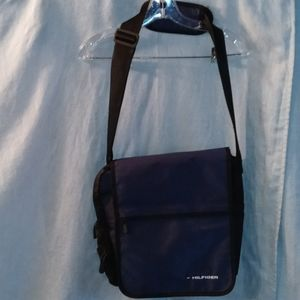 Hilfiger Blue black messenger bag